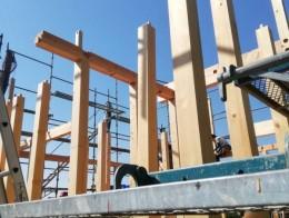 愛知県小牧市で住宅新築工事の上棟が行われました!