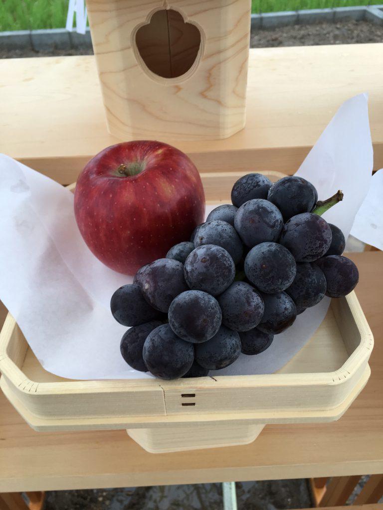地鎮祭お供え:果物