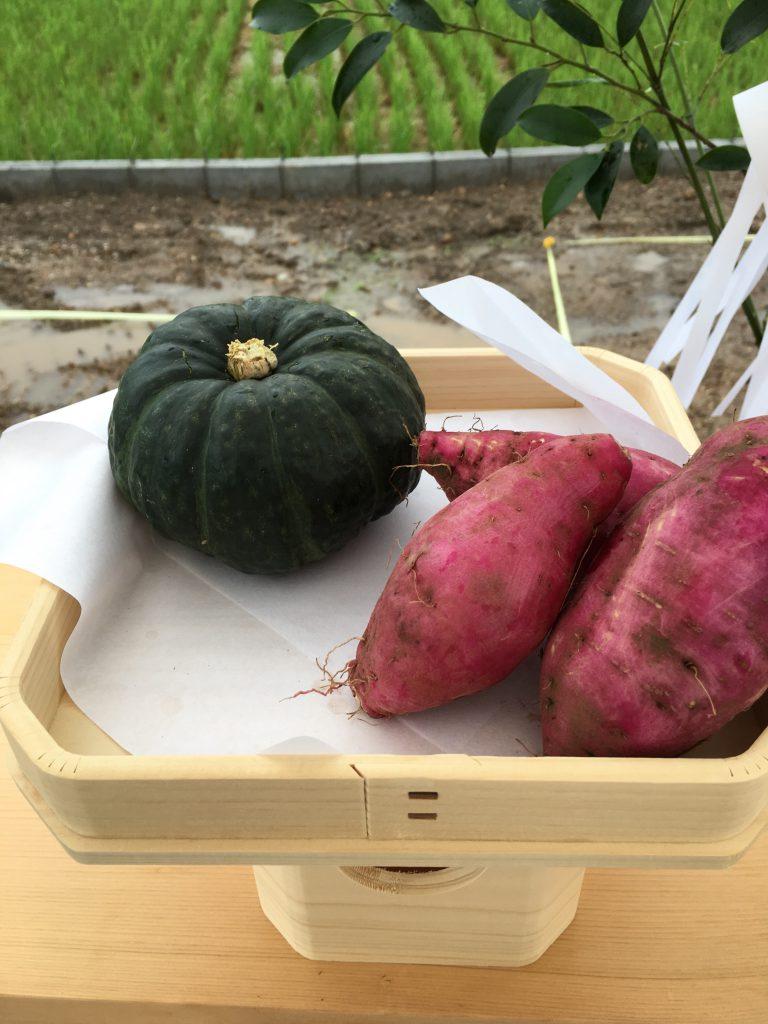 地鎮祭お供え:野菜