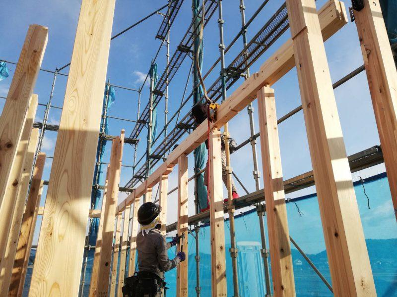 カシータ笠屋上棟:関市鋳物師屋