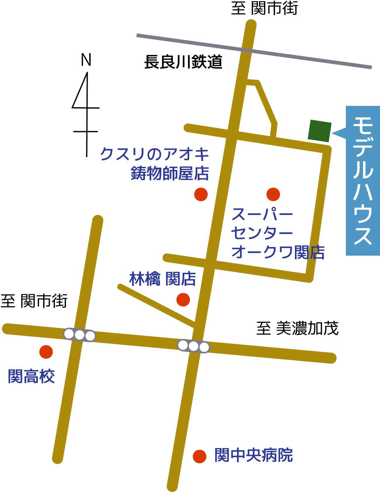 カシータ笠屋案内図