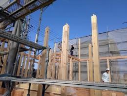 岐阜県関市で住宅新築工事の上棟が行われました